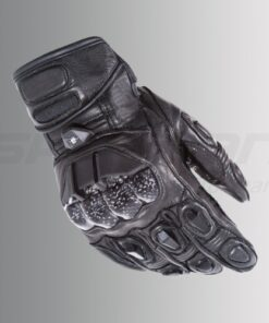 ASPIDA PEGASUS SHORT CUFF LEATHER GLOVES: Black