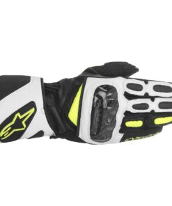 Alpinestars SP-2 Carbon Gloves: Black / White / Fluorescent Yellow