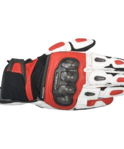 ALPINESTARS SPX AIR CARBON GLOVES: Black / White / Red