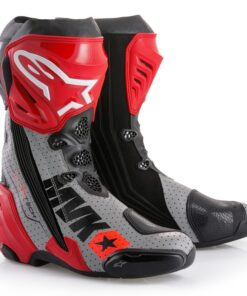 ALPINESTARS SUPERTECH R BOOTS: Black / Red / Grey