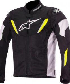 Alpinestars T-GP R V2 Air Jacket: Black / White / Fluorescent Yellow