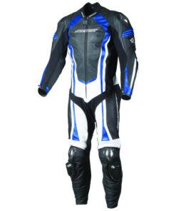 AGV Sport Phantom Leather One Piece Race Suit: Blue