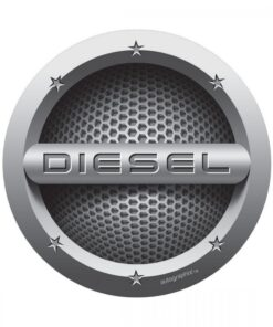 AUTO GRAPHIC DIESEL CARS FUEL BADGE