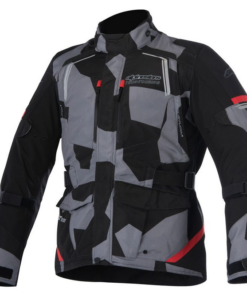 ALPINESTARS ANDES V2 DRYSTAR JACKET: Black Camo / Red