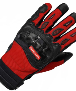 RICHA TORSION SHORT TEXTILE GLOVES: BLACK / RED