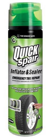 SLIME QUICK SPAIR EMERGENCY TIRE INFLATOR & SEALANT - 16 OZ
