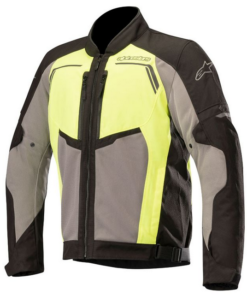 ALPINESTARS DURANGO AIR JACKET: Black / Grey / Fluorescent Yellow