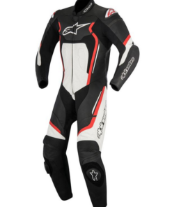 ALPINESTARS MOTEGI V2 ONE PIECE LEATHER SUITS: Black / Red / White