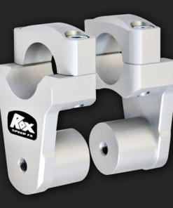 ROX SPEED PIVOTING HANDLEBAR RISERS -51MM RISE, 32MM HANDLEBAR: Anodized Aluminium