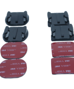 ACTIONCAMS BASE MOUNTS 2X FLAT AND 2X CURVED MOUNTS