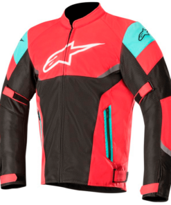ALPINESTARS AXEL AIR JACKET: Burgundy / Black / Aqua