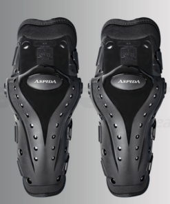 ASPIDA PERSEUS EXTERNAL KNEE GUARD: Black