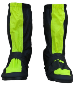 MOTOTECH TROOPER BOOT COVER: Black / Fluor Green