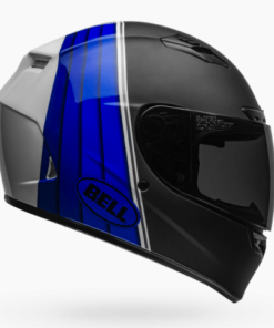 BELL QUALIFIER DLX MIPS ILLUSION MATT/GLOSS HELMET: Black / Blue