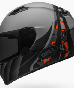 BELL QUALIFIER INTEGRITY MATT HELMET: Camo Grey / Orange