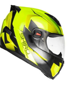 SHIRO SH-821 PAUL RICARD GLOSS HELMET: Fluorescent Yellow