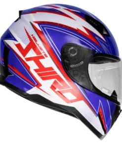 SHIRO SH-881 ATLANTA GLOSS HELMET: Blue / Red