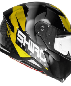 SHIRO SH-890 INFINITY GLOSS HELMET: Black / Fluorescent Yellow