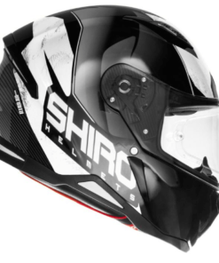 SHIRO SH-890 INFINITY GLOSS HELMET: Black / White