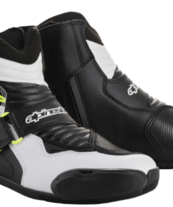 ALPINESTARS SMX-1 R BOOTS: Black / White / Fluorescent Yellow