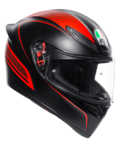 AGV K1 MULTI WARMUP MATT HELMET: Black / Red