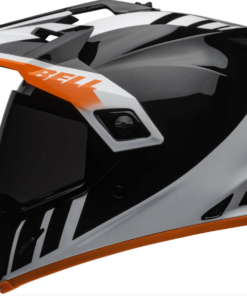 BELL MX-9 ADVENTURE MIPS DASH GLOSS HELMET: Black / White / Orange