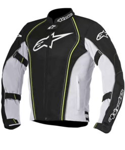 ALPINESTARS BONNEVILLE AIR JACKET: Black / White / Fluorescent Yellow