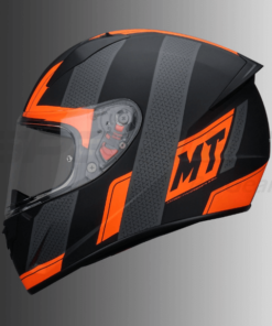MT Stinger Affair Matt Helmet: Fluorescent Orange