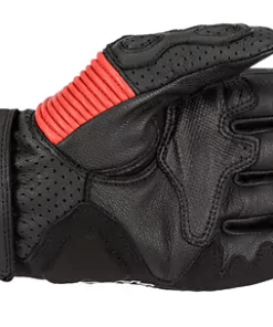 ALPINESTARS TWIN RING LEATHER GLOVES MM93: Black / Red