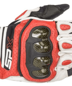 ALPINESTARS SP X AIR CARBON V2 GLOVES: Black / White / Bright Red