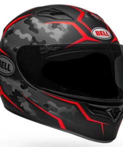 BELL QUALIFIER STEALTH CAMO MATT HELMET: Black / Red