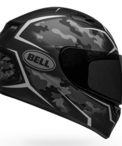 BELL QUALIFIER STEALTH CAMO MATT HELMET: Black / White