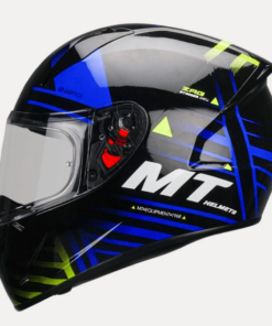 MT STINGER ZAG B10 GLOSS HELMETS: Black / Blue
