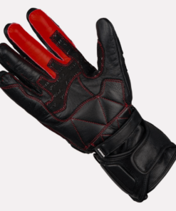 ASPIDA ARES FULL GAUNTLET LEATHER GLOVES: Black