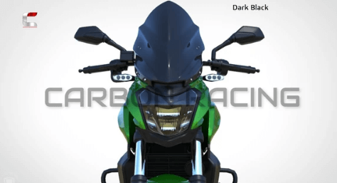 CARBON RACING WINDSHIELD FOR DOMINAR 400: Clear or Dark Smoke