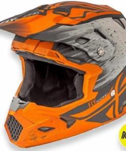 FLY TOXIN RESIN HELMET MATTE: Orange / Khaki