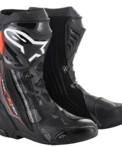 ALPINESTARS SUPERTECH R BOOTS: Black / Dark Grey / Red / Flur