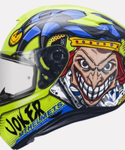MT TARGO JOKER C3 GLOSS HELMET: Fluorescent Yellow