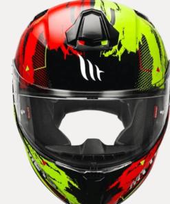 MT TARGO ZIFRA A5 GLOSS HELMETS: Red