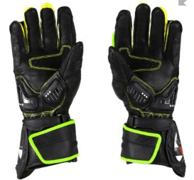 VIATERRA GRID FULL GAUNTLET GLOVES: Fluorescent Green / Yellow