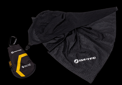 INUTEQ BODYCOOL TRAVEL TOWEL WITH UV PROTECTION: Black