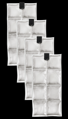 INUTEQ COOLPAC 24˚C / 75˚F - 8 CELLS (SET OF 4 UNITS): White
