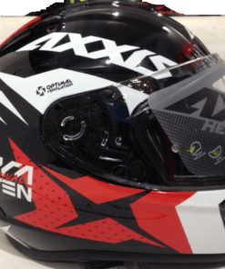 AXXIS DRAKEN RIVAL GLOSS HELMETS: Red