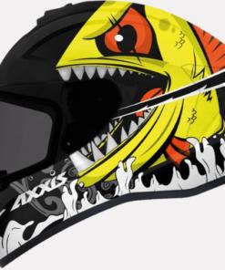 AXXIS DRAKEN VIPER FISH GLOSS HELMETS: Fluorescent Orange
