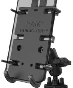 RAM QUICK-GRIP XL PHONE MOUNT WITH HANDLEBAR U-BOLT BASE: 6.2 inches