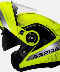 ASPIDA DISCOVERY WAVE HELMET: Flur Yellow Silver