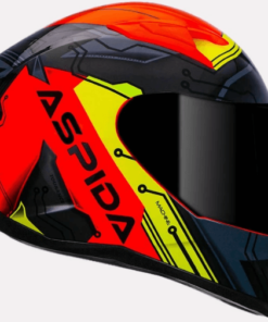 ASPIDA TOURANCE MACHINE HELMET: Fluorescent Orange