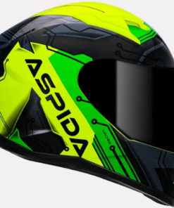 ASPIDA TOURANCE MACHINE HELMET: Fluorescent Yellow Green