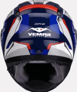 VEMAR ZEPHIR LUNAR HELMETS: Blue / White / Red