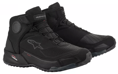 ALPINESTARS CR-X DRYSTAR SHOES: Black / Black